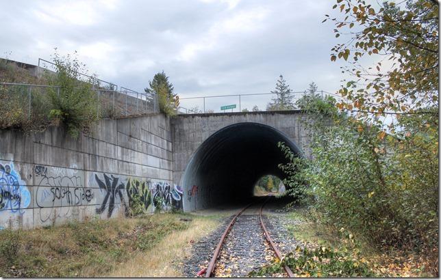 E&N, rail, rail road, rail way,Vancouver Island,tunnel,Ladysmith,Highway 1,culvert