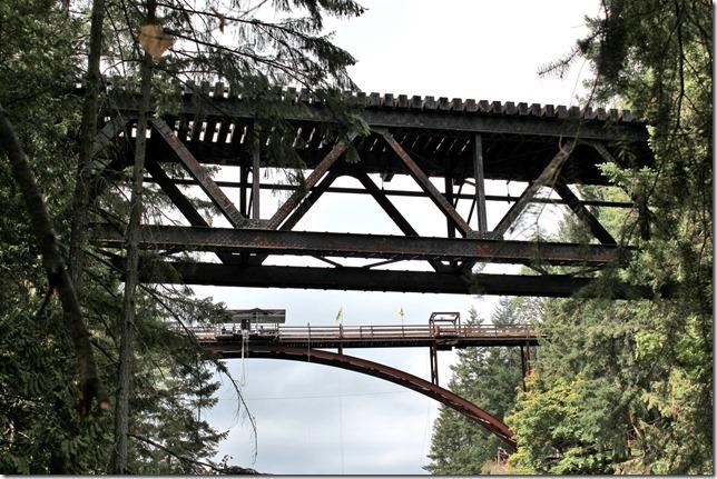 bungy jump,E&N, rail, rail road, rail way,Vancouver Island,bridge