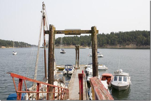 Mayne Island,Gulf Island,ocean,docks,harbour,summer,Gulf Islands,Horton Bay,Mayne Island,Gulf Islands,British Columbia,summer,forest fire smoke,haze
