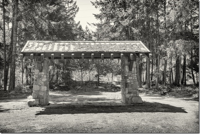 Vanishing Vancouver Island,history,cook shelter,buildings,Highway 19,black and white,Nanoose