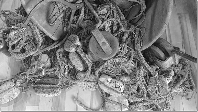 Pulleys and blocks and rope – things that keep a sailing boat sailing…